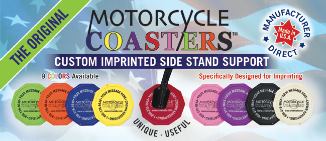 Motorcycle Coasters® Custom Imprinted Side Stand Suport